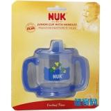 NUK高級透明喝水杯(雙柄)