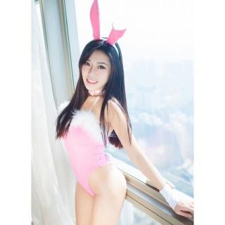 瑟诗芭比情趣内衣连体内裤边粉色兔子服(性感)女毛绒情趣内衣图片