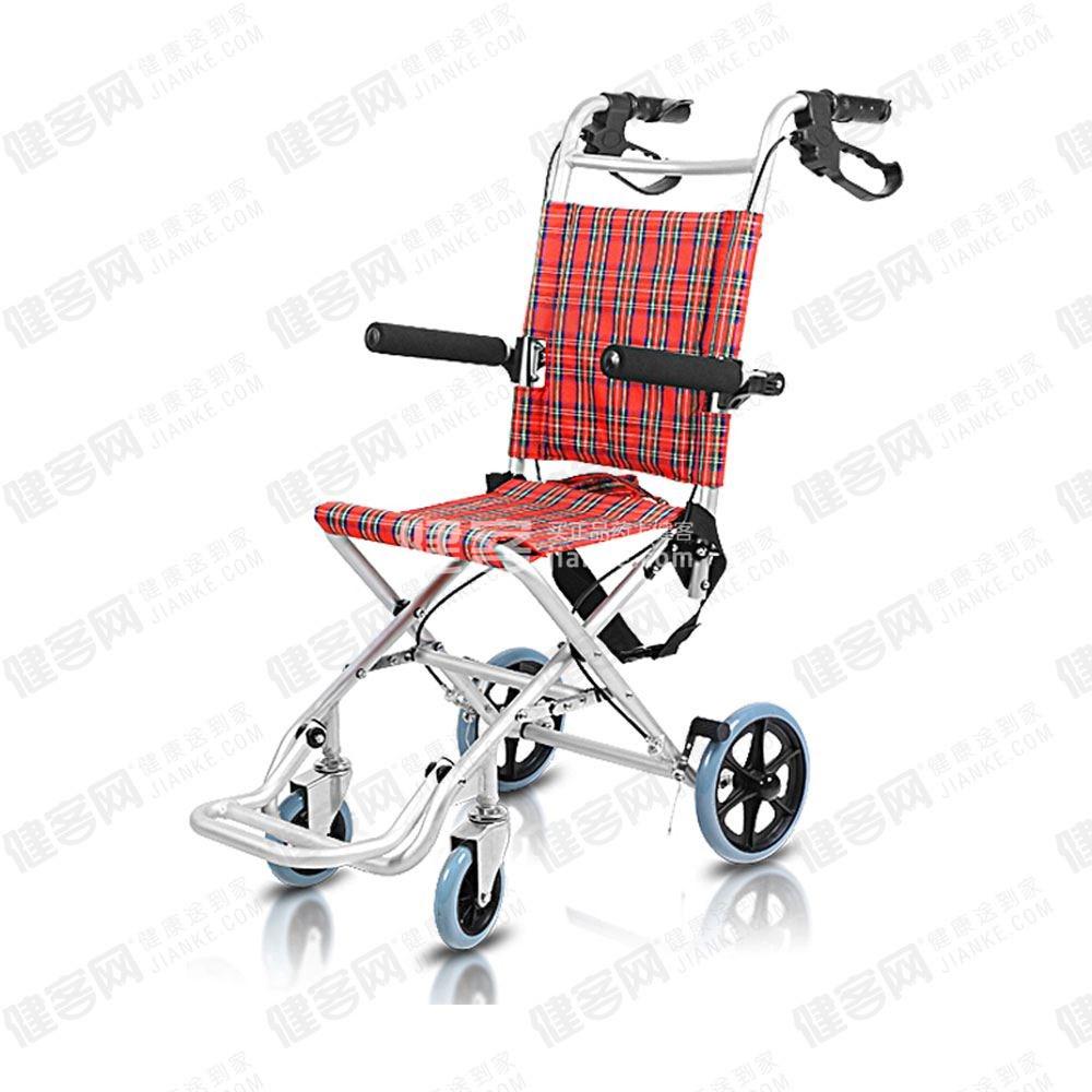 可孚逸质轮椅可折叠铝合金轻便儿童老人轮椅车残疾人飞机旅行轮椅jc