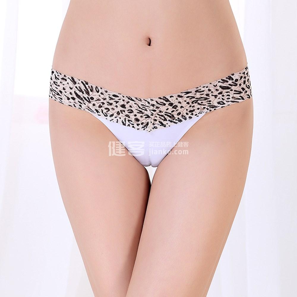 天秀 情趣内衣 女款性感豹纹丁字裤(白色 xl码)
